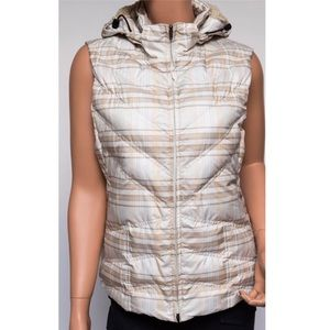 Patagonia Plaid Down Vest with Removable Hood
